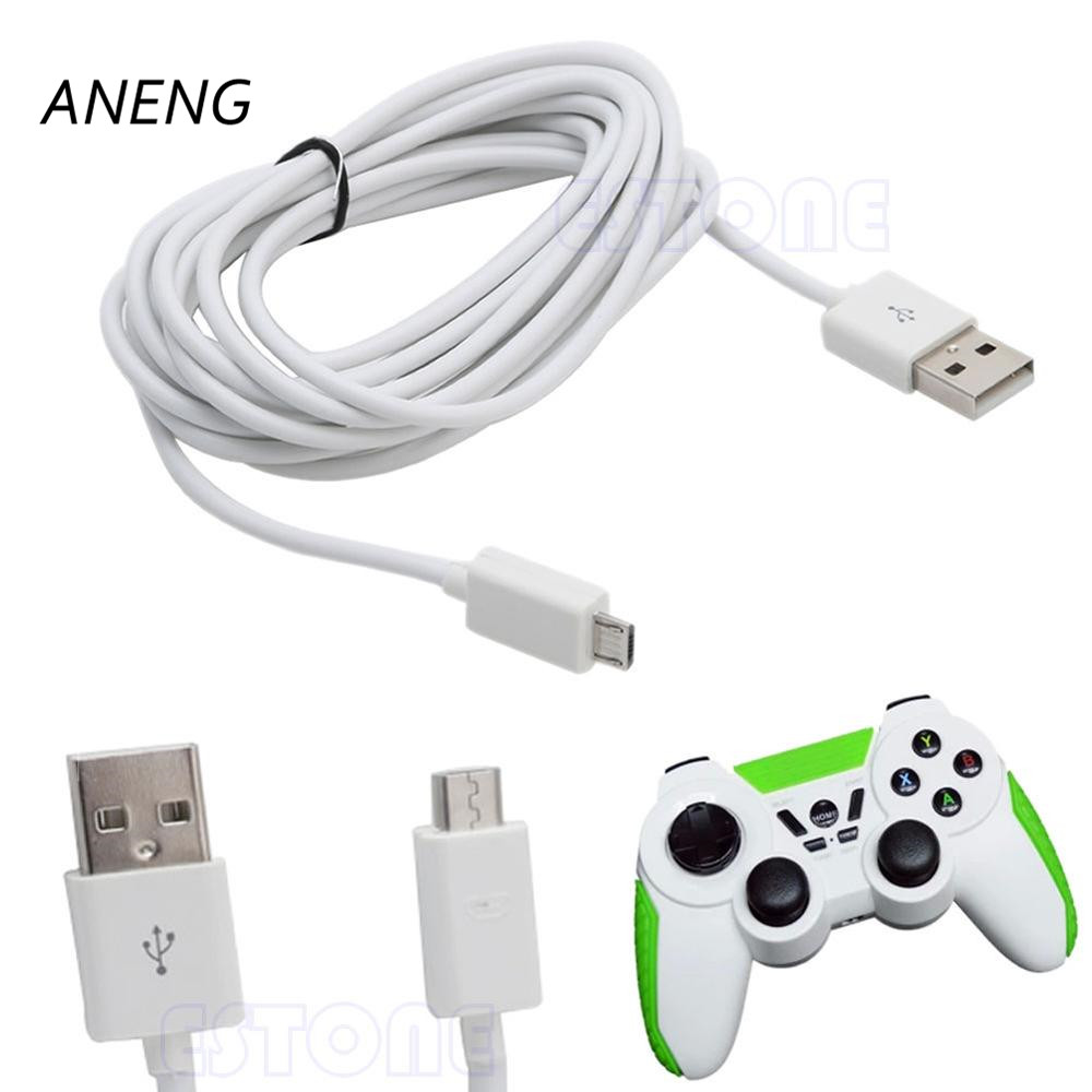 US $1 24 28% OFF| ANENG White USB 10ft 3M Micro Power Charging Cable Cord  For PS4 Xbox One Controller-in Cables from Consumer Electronics on