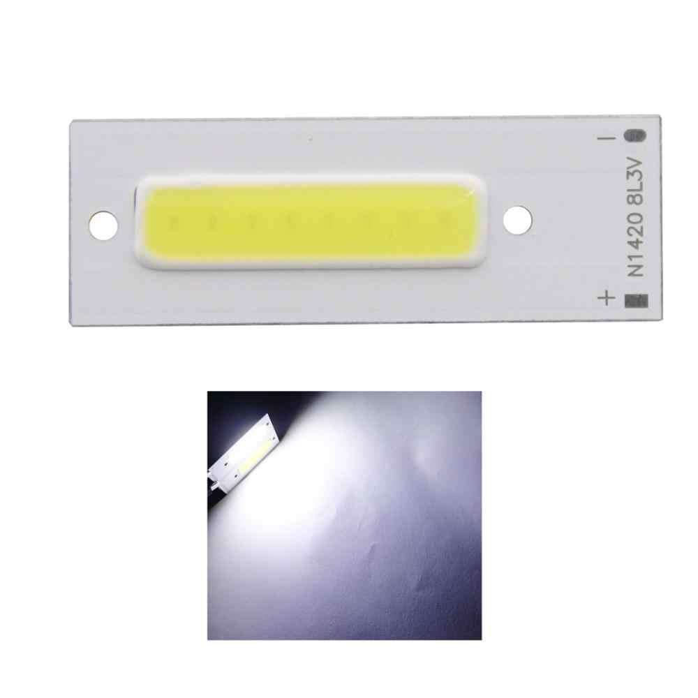 new arrivel 3v 3.7v 1.5w 43x15mm led cob Strip bar chip bulb light source for work lamp DIY Bike light cold white cob led tubes