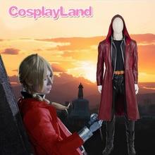 цена на Men's Fullmetal Alchemist Edward Elric Costume Cosplay Game Japanese High Quality Custom Made Halloween Costumes for Men