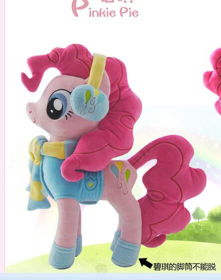 lovely plush pinkie pie horse toy stuffed party dress horse doll  pink horse toy doll gift toy about 40cm lovely giant panda about 70cm plush toy t shirt dress panda doll soft throw pillow christmas birthday gift x023