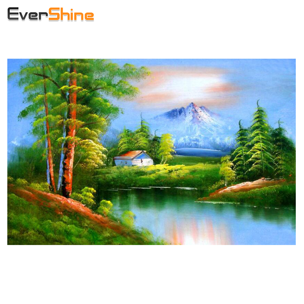 Diy Diamond Painting Landscape Square Crystal Patterns