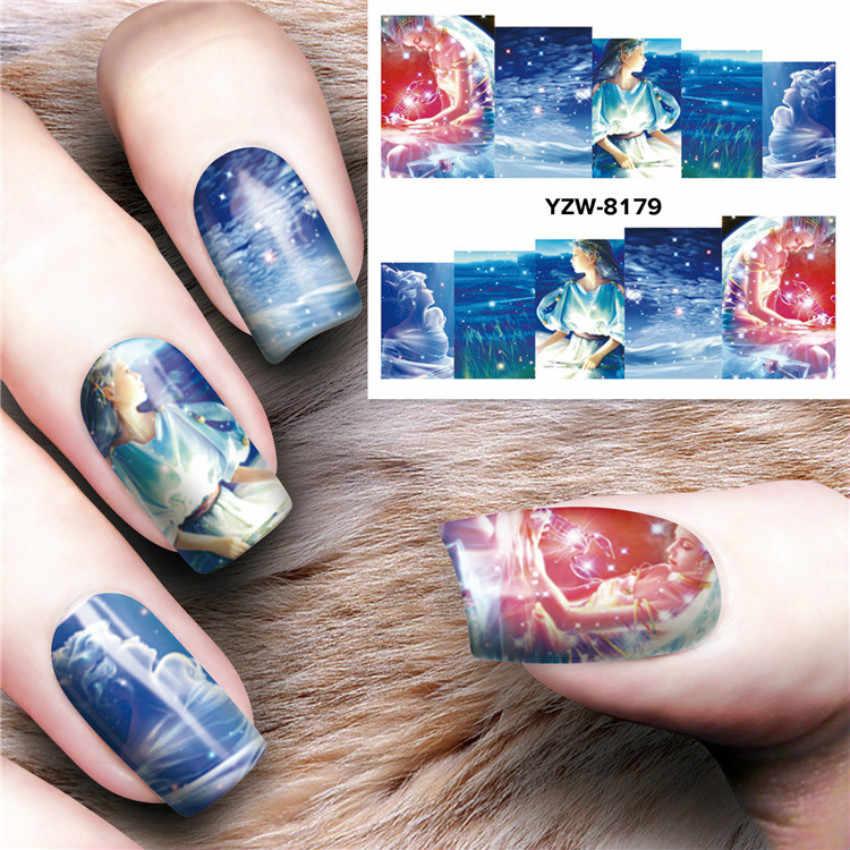 1 個の新マジック花水転送ネイルアートグリッタージェルポリッシュキットミラーマニキュア輝く爪 UV 装飾ホログラフィック爪