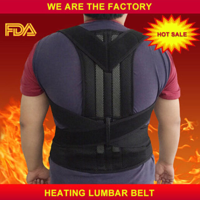 SCOLIOSIS POSTURE CORRECTOR LUMBAR SUPPORT BELT ROUND SHOULDER BACK BRACE DELUXE FREE SHIPPING AFT-B003