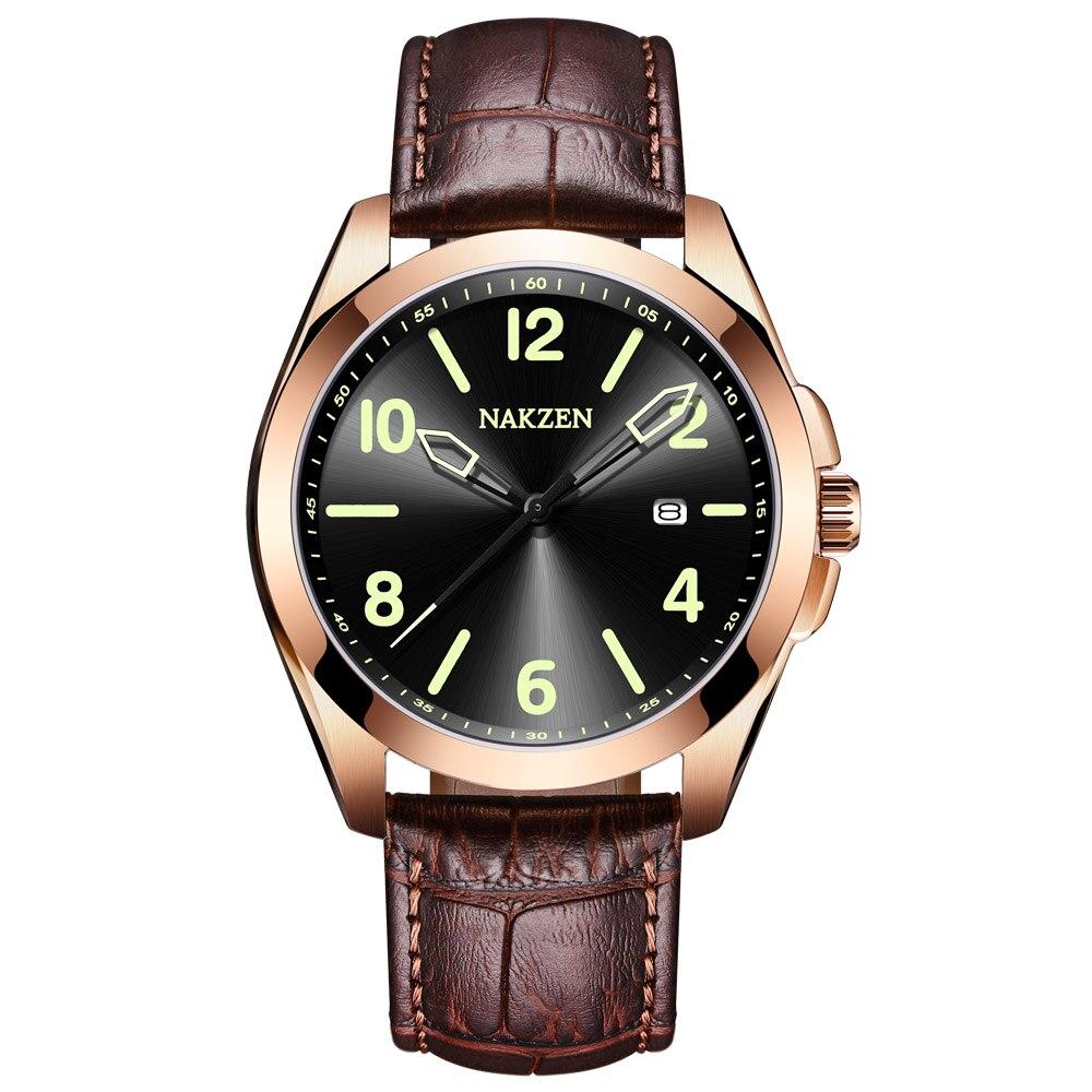Relogio Masculino mens watches Top Brand Luxury wristwatch men's Fashion Sport Steel Case watch Men Leather Strap Watch Clock