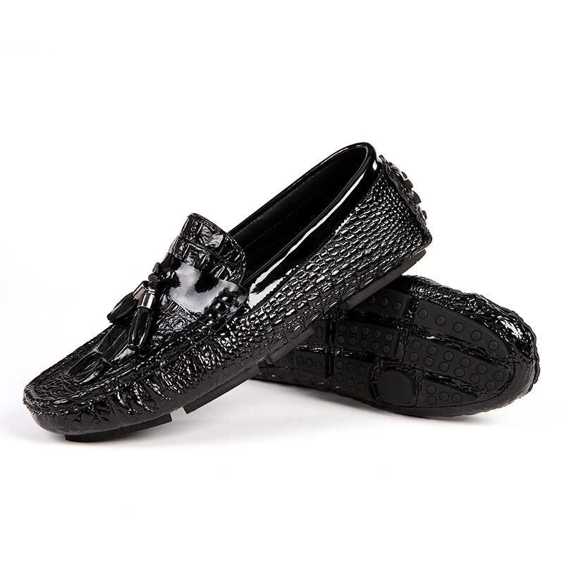 Printemps Appartements Lumière 45 Homme Cuir De Taille Haut Mocassins Valstone Conduite on Qualité Gamme Véritable Slip Black Chaussures bule white 2018 En qUU6gAwZa