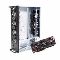 W8 ZC профессиональных шахты горной машины шасси 8 Графика сервер шасси с 7 вентиляторов добыча кадров чехол один Питание