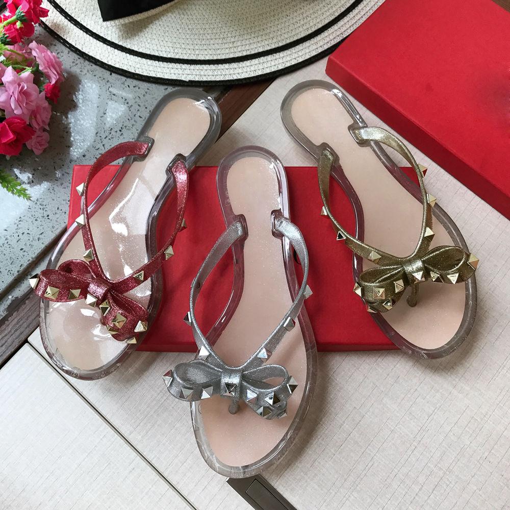 Stkehidba Scarpe da Donna Top delle Donne di Estate di Modo Pantofole 35 41 Formato Spiaggia Rivetti Infradito Ecologico scarpe-in Pantofole da Scarpe su  Gruppo 1