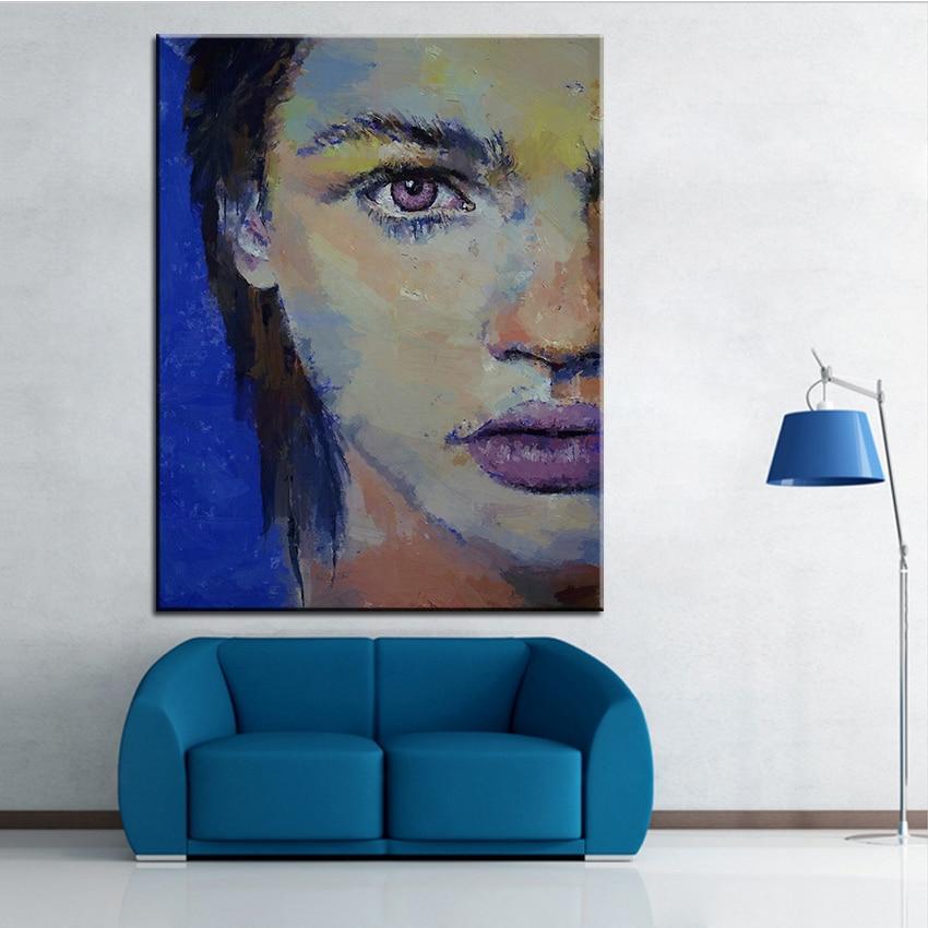 ᗕImpresión de gran tamaño pintura al óleo violeta pared hogar arte ...