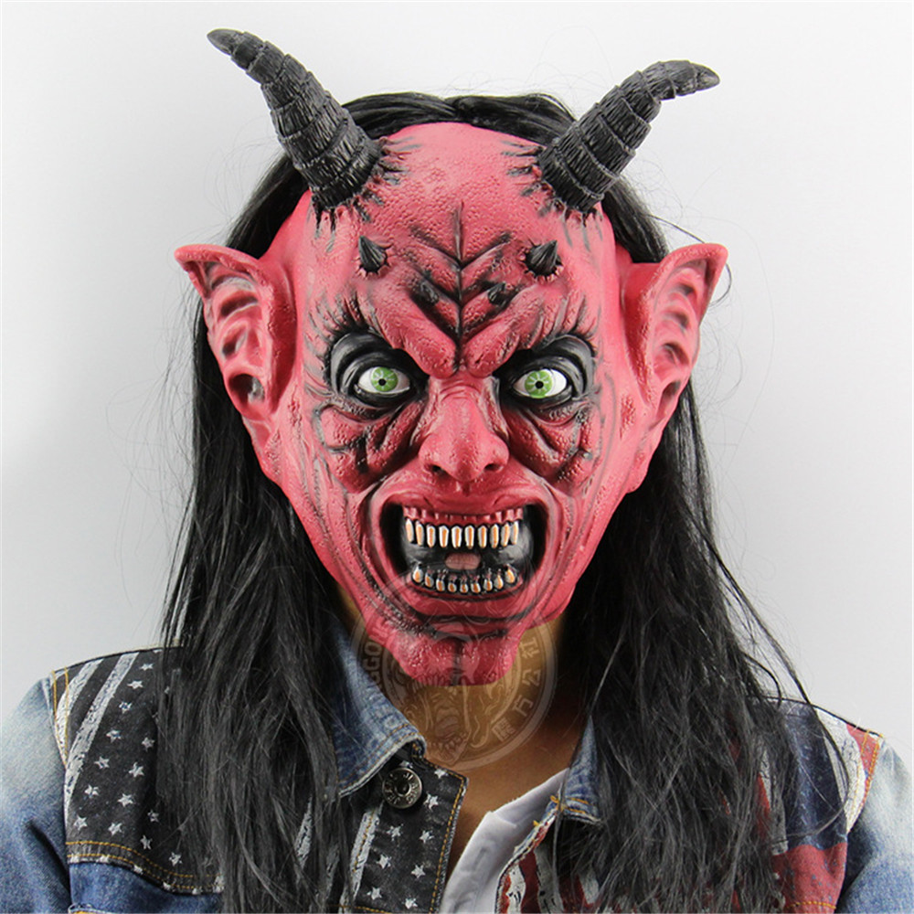 Demon vampires werewolves Zombie Horror Mask Creepy Costume Party Cosplay Props Scary Mask for Halloween Terror Devil