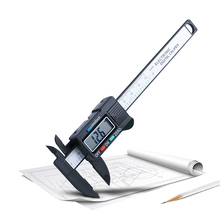 0-150mm vernier Caliper electronic digital plastic calipers ruler measuring tools LCD display diameter carbon fiber 1.5V battery ip54 shahe digital lcd caliper ruler digital 0 200mm 0 01 stainless steel vernier calipers measuring tools