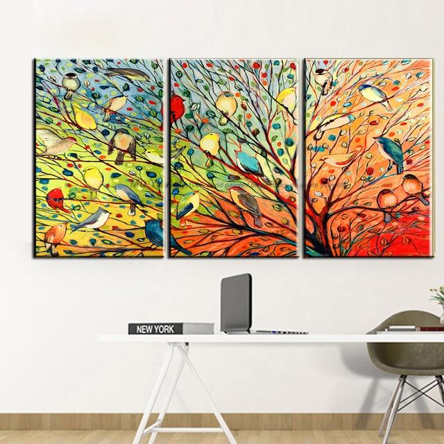 muya schöne liebe vögel malerei wandbild bunte malerei moderne ... - Moderne Kunst Wohnzimmer