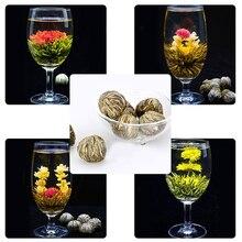 Цветущий различные шары китайский зеленый цветок чай ручной