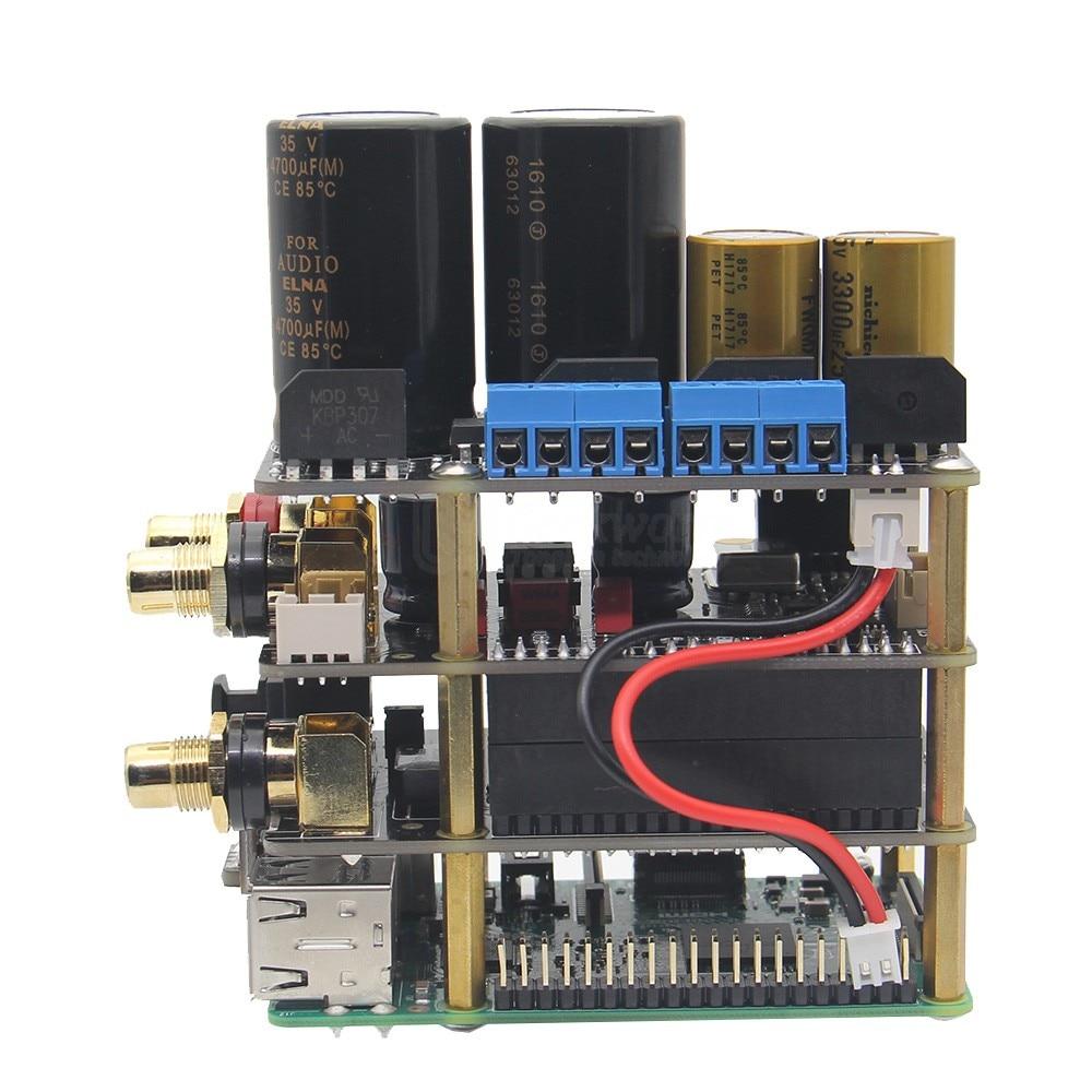 Raspberry Pi X20 Hifi Audio Kit (X20 ES9028Q2M DAC Board/ X10 I2S Board/ X10 PWR Power Supply Board/ X10 HPAMP Amplifier(KitB) )-in Demo Board from Computer & Office    2