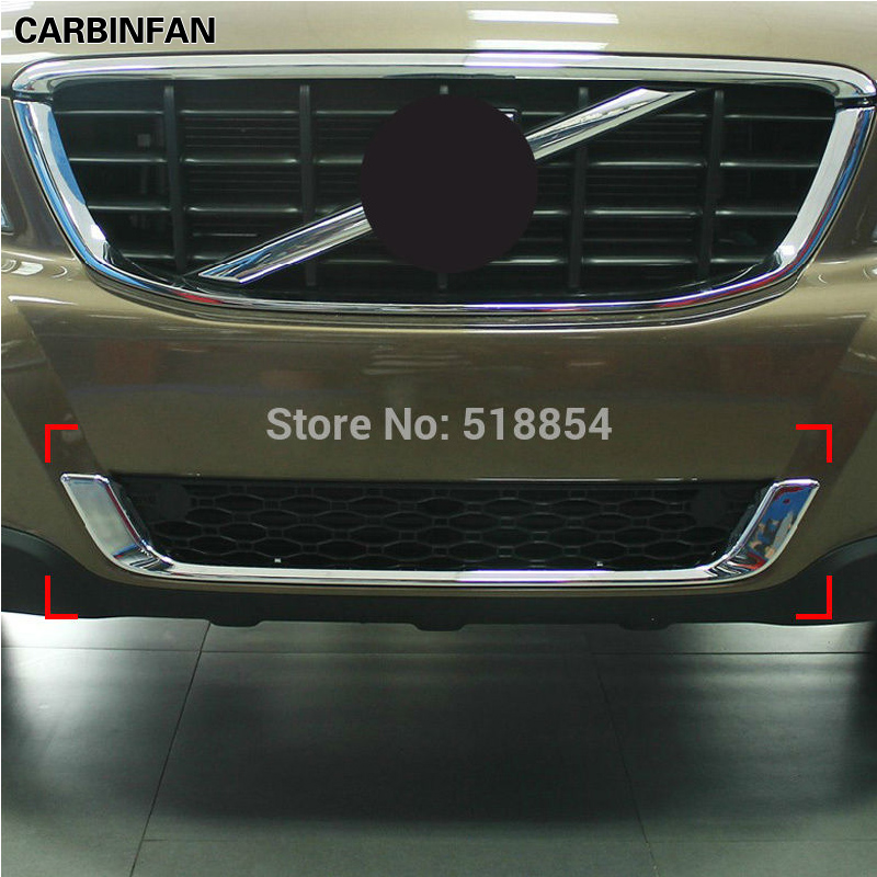 ABS Chrome Front Grill Decoration Cover Bar Trims For VOLVO XC60 XC 60 2009 2010 2011 2012 2013-in Chromium Styling from Automobiles & Motorcycles    1