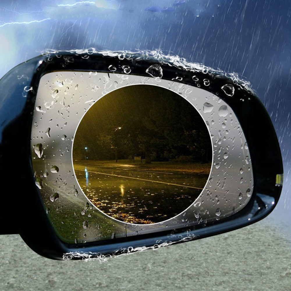 Car Anti Water Mist Film Anti Fog Rainproof Rearview Mirror Protective Film 2Pcs