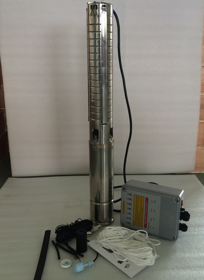 DC 48V 500W Free Shipping 3 Inch Solar Submersible Pump Deep Well Solar Pump For Borehole