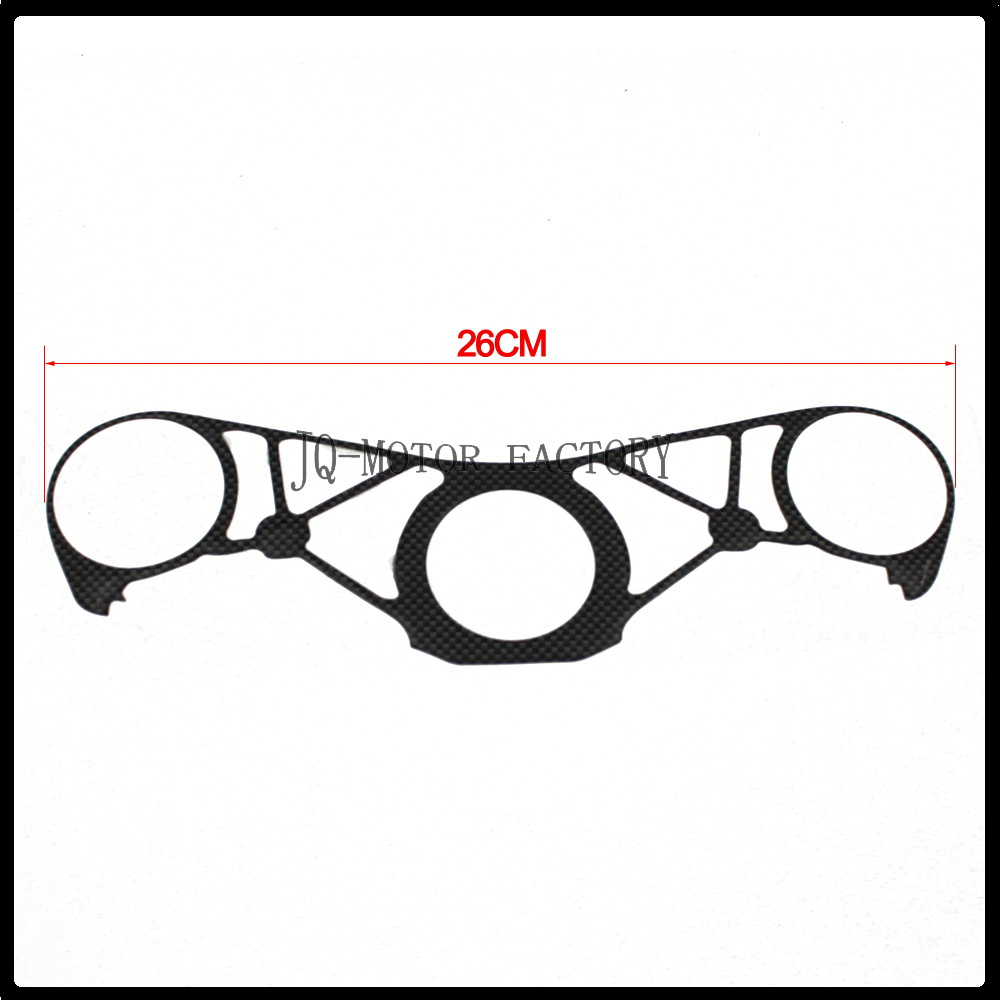 New Motorcycle Carbon Fiber Pattern Top Triple Clamp Yoke