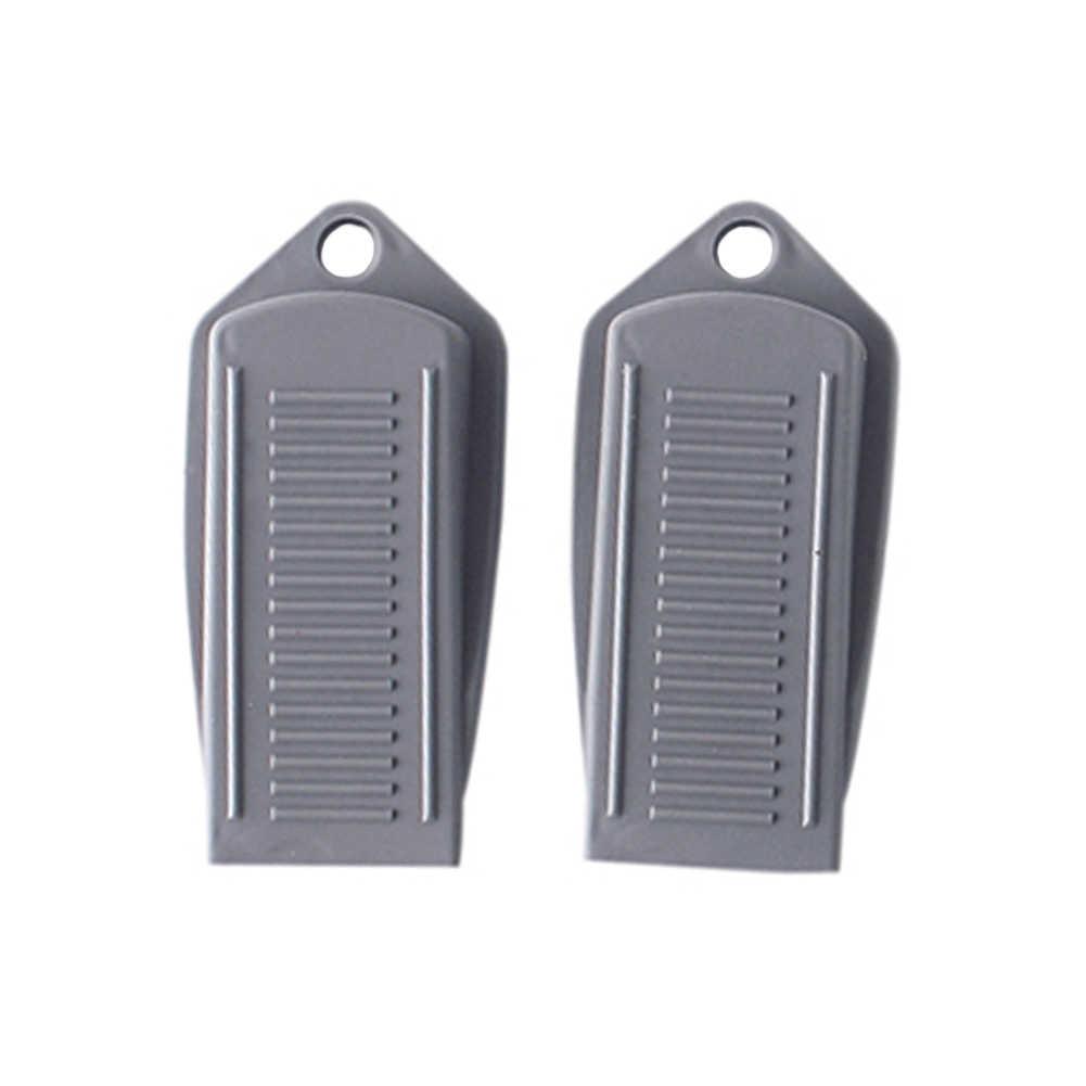 2 قطعة باب مزخرف سدادة الباب وقف يعمل على جميع أسطح الأرضيات المطاط مثبت الباب الرمادي الأبيض