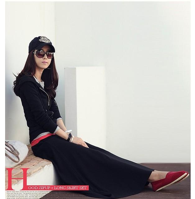 6XL mujeres de invierno falda 2016 Dobladillo de cintura alta de bodycon sólido color plus size side dividir maxi negro paño lápiz largo falda