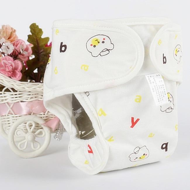 Хлопковые детские подгузники, подгузники, многоразовые стираемые тканевые подгузники, непромокаемые подгузники для новорожденных, трусики для тренировок, подгузники с карманами - Цвет: Yellow Bear