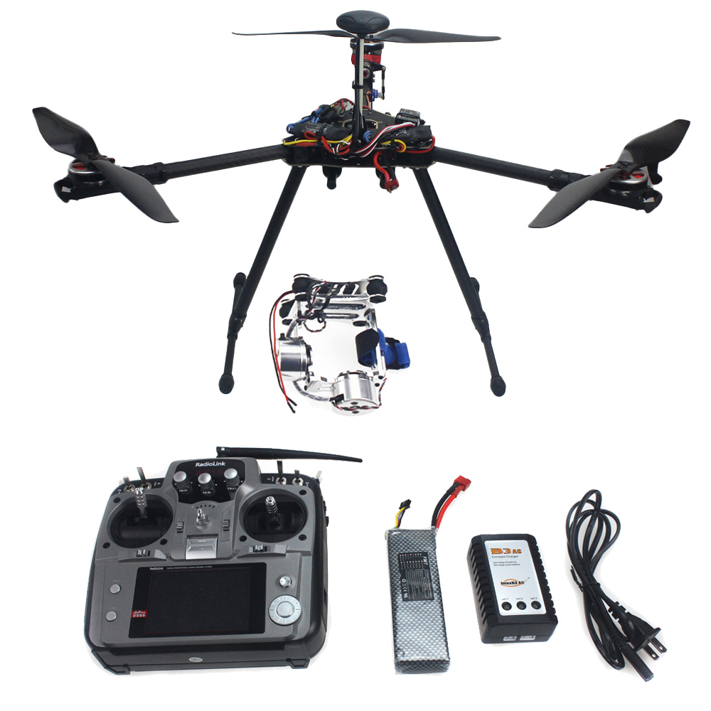 RTF Kit HMF Y600 Tricopter 3 Axis Copter Hexacopter APM2.8 GPS Drone with Motor ESC AT10 TX&RX Camera Gimbal for Gopro F10811-D