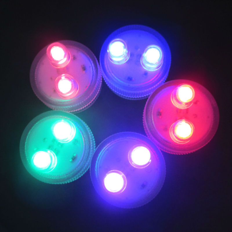 50 Pieces/Lot Battery LED Submersible  Light / Party Light Decoration LED Mini Tealights for Wedding Reception