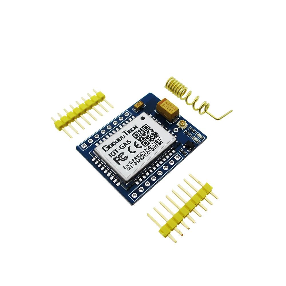 10PCS/LOT mini A6 GPRS GSM Kit GA6 Wireless Extension Module Board Antenna Tested for SIM800L free shipping 1pcs lot smallest sim800l gprs gsm module micro sim card core board quad band ttl serial port