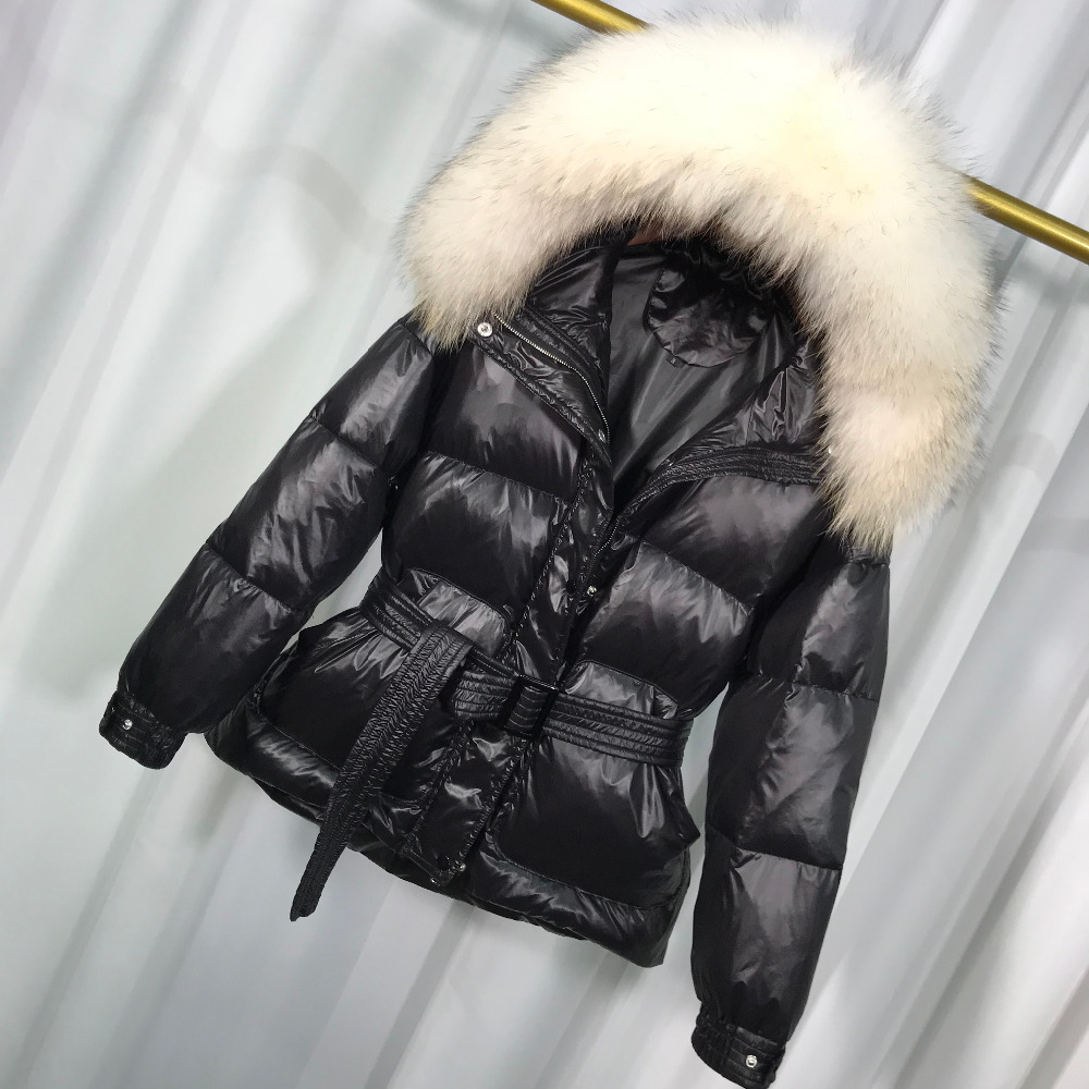 Large Real Raccoon Fur 2018 Winter Jacket Women Medium-long Down Parka Warm Female Duck Down Jacket Hooded Winter Coat Women