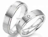 tailor made simple silver color health titanium couples rings sets for men and women lovers