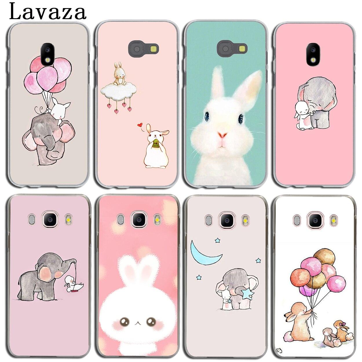 Lavaza Cute Elephant Rabbit Phone Shell Case for Samsung Galaxy J3 J1 J2 J7 J5 2015 2016 2017 J2 Pro Ace J7 J3 J5 Prime Case