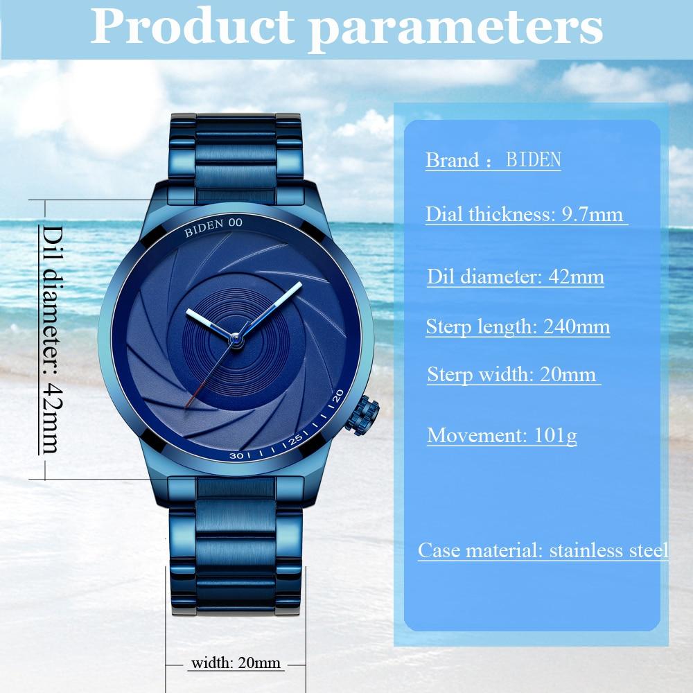 BIDEN BD0109 Photographer Series Creative Wrist Watch 9