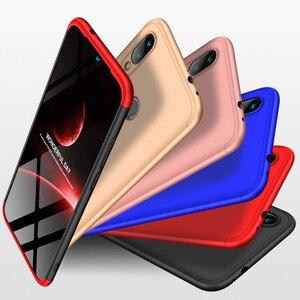 Image 5 - 3 in 1 Plastic Hard 360 Tempered Glass + Case for Xiaomi Redmi Note 7 Anti Shock Back Cover Case for Xiaomi Redmi Note 7 Pro 7A
