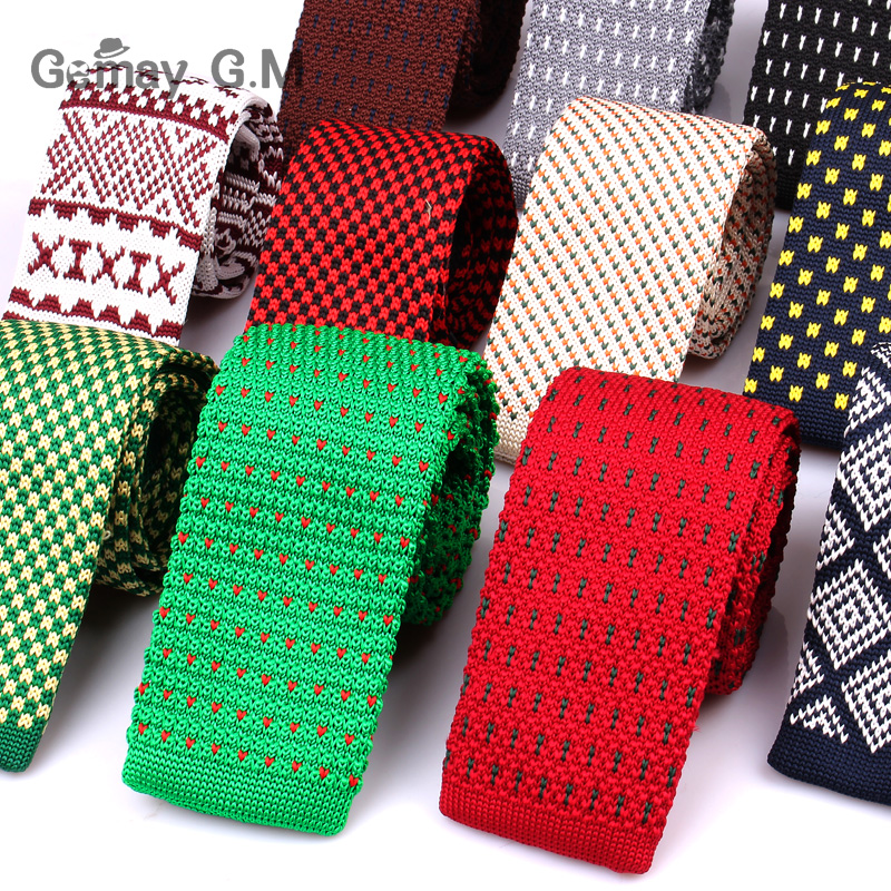 New Knit Neck Tie For Men Casual Knitted Ties Fashion Polyester Mens Necktie For Wedding Business Adult Suit Tuxedo Plaid Tie