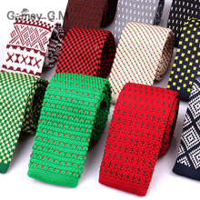 New Knit Neck Tie For Men Casual Knitted Ties Fashion Polyester Mens Necktie Wedding Business Adult Suit Tuxedo Plaid