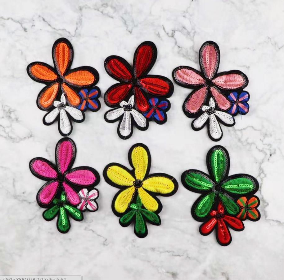 1 pièces 3D Fleurs Perlée Perle Patch Broderie Pour Mariage/Robe de Soirée Vêtements Coudre Sur Des Patchs bricolage Tissus De Dentelle Florale Appliques