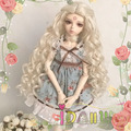Custom Blonde Deep Curly BJD Wig 1/3 1/4 1/6 for Choice Heat Resistant Fiber can bear 180 degrees