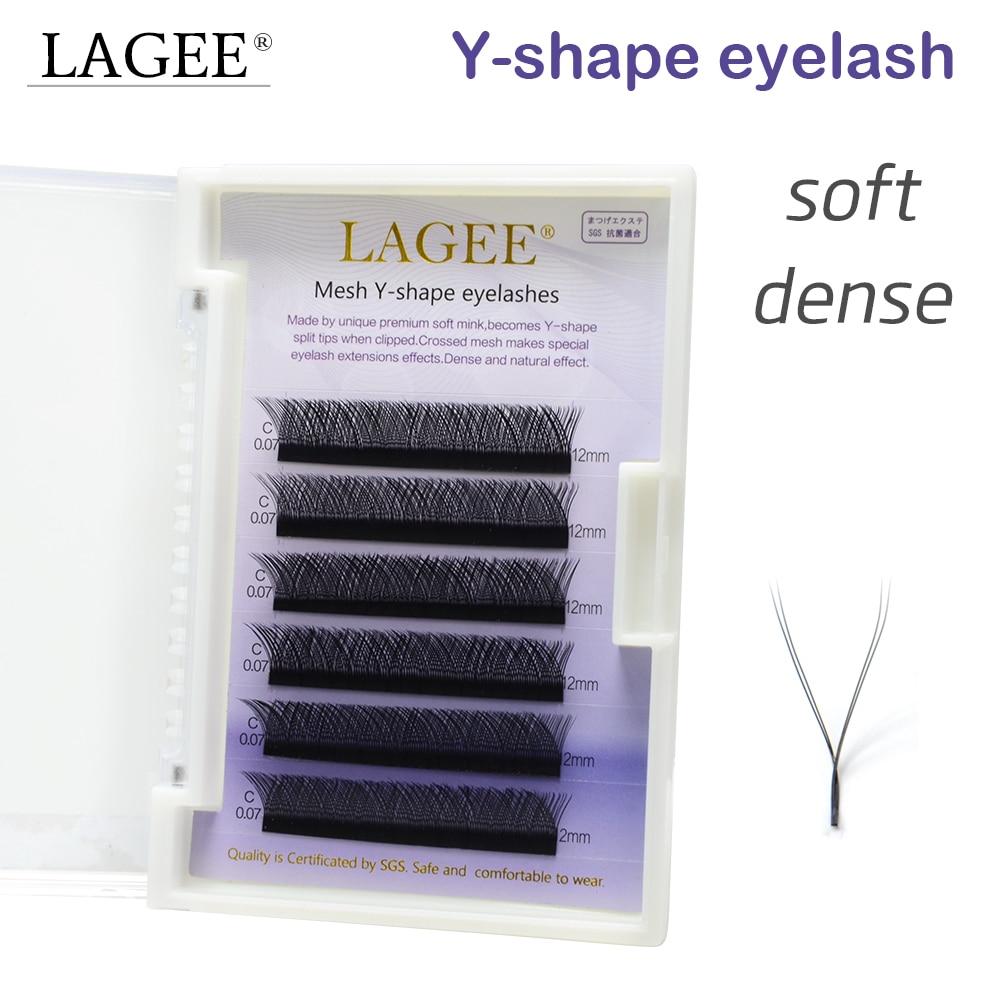 цена LAGEE Y-shape mesh volume eyelash extensions false eyelashes soft natural Easy to fan Easily grafting high-quality faux mink онлайн в 2017 году