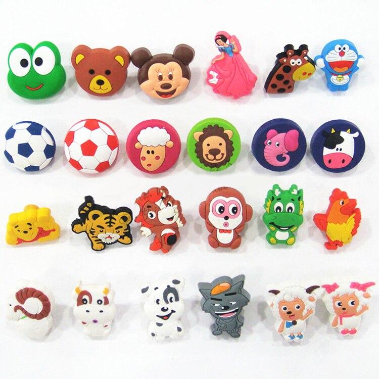 Pvc soft rubber cartoon knobs cabinet drawer knob kids - Tiradores cajones infantiles ...