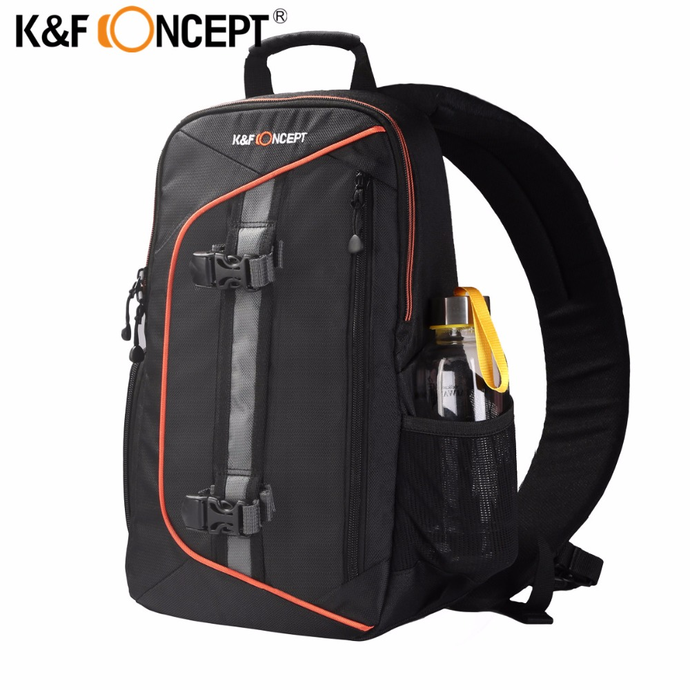 K&F CONCEPT Waterproof Camera Bag Professional Shoulder Sling Backpack Case Tripod with Rain Cover For Canon Nikon DSLR Camera