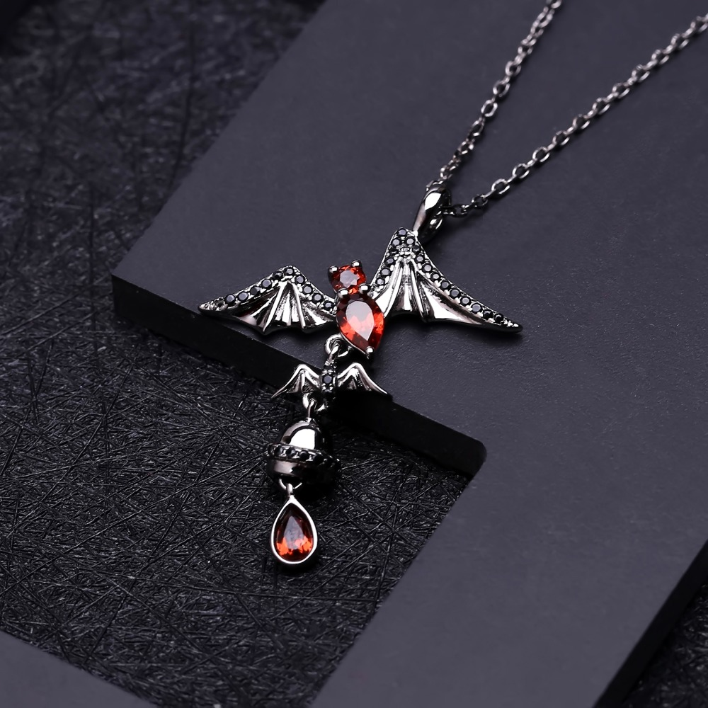 Image 2 - GEMS BALLET 925 Sterling Sliver Bat Shape Natural Garnet 
