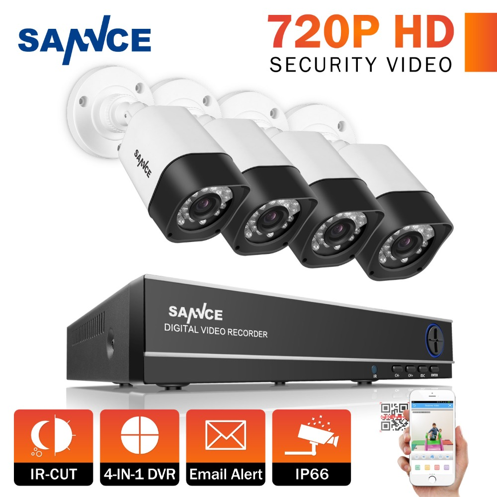 SANNCE Full HD 8CH AHD 1.3MP Home Outdoor CCTV System Kit 8 ...