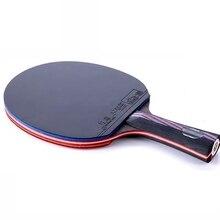 Профессиональный WRB углеродное волокно ракетка для настольного тенниса double face прыщи-в настольный теннис резиновые длинной или короткой ручкой пинг-понг bat