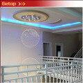 Горячая продажа вилла двойной вход здание лестницы лампа каюта лампа K9 хрустальный шар GU10 LED люстра