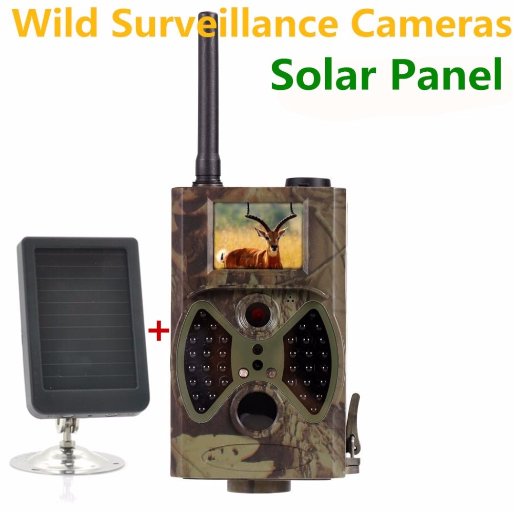 Solar Panel Trail Camera GSM GPRS Hunting Wild Camera for Outdoor wild surveillance arduino atmega328p gboard 800 direct factory gsm gprs sim800 quad band development board 7v 23v with gsm gprs bt module