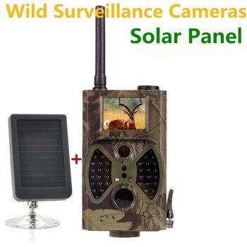 Solar Panel Trail Camera GSM GPRS Hunting Wild Camera for Outdoor wild surveillance