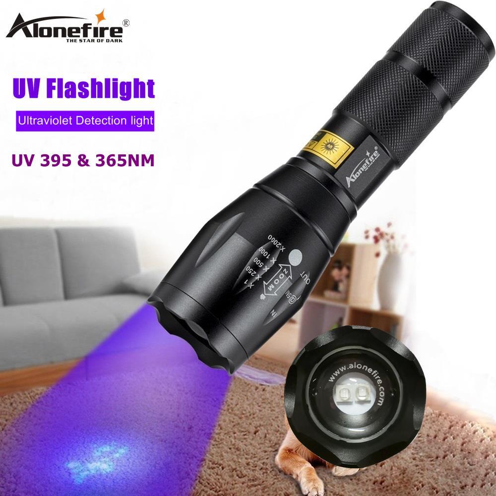 ALONEFIRE black light cat urine blacklight ultraviolet flashlight 395 nm UV 1...