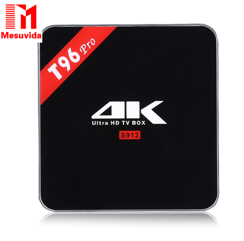 Original T96 pro Android 6.0 Smart TV Box Amlogic S912 Octa core 4K H.265 Bluetooth 4.0 2.4G+5G WiFi 4K Set-top box