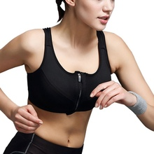 Hot Running Intensive Training Without Rims Snow Sports Bra Open Front Zipper-Style Underwear Drop Shipping