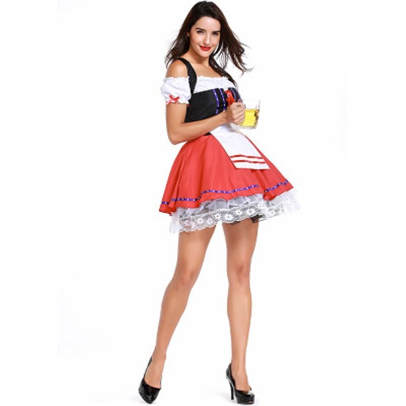 Cosplay Costume Maid Fancy Dress Cosplay German Beer Girl Costume Sexy Dirndl Deguisement Halloween Costumes For Women