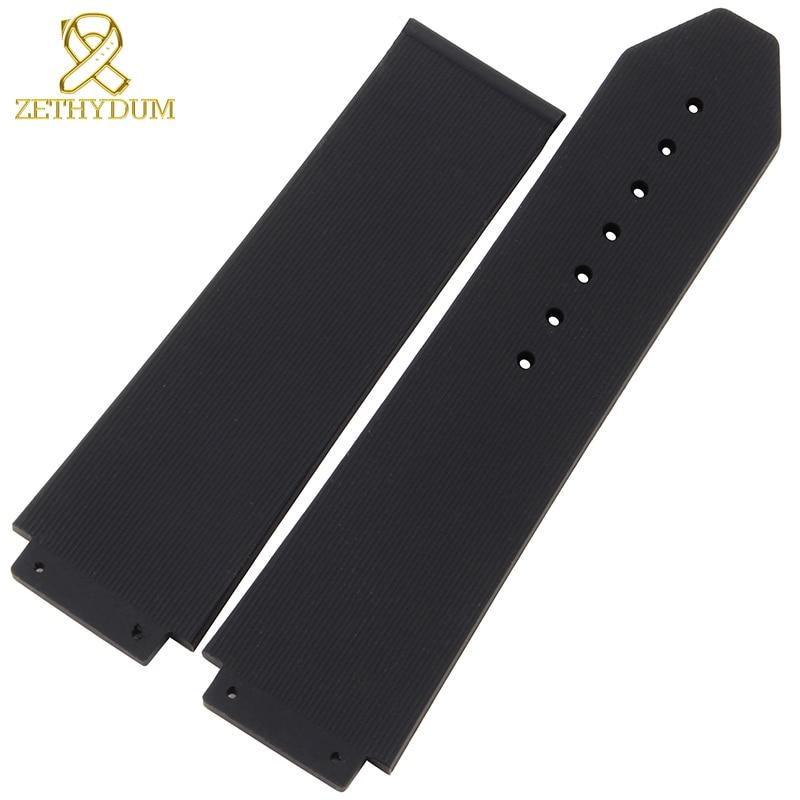 Silicone Rubber strap watchband wristband bracelet waterproof wristwatches band Convex interface 25mm 21mm accessories belt все цены